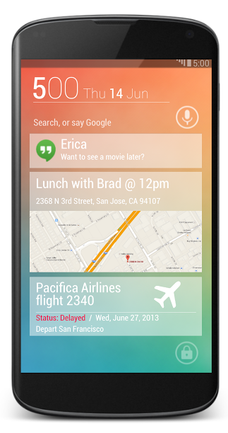 Android 5.0 Key Lime Pie Lockscreen-solo