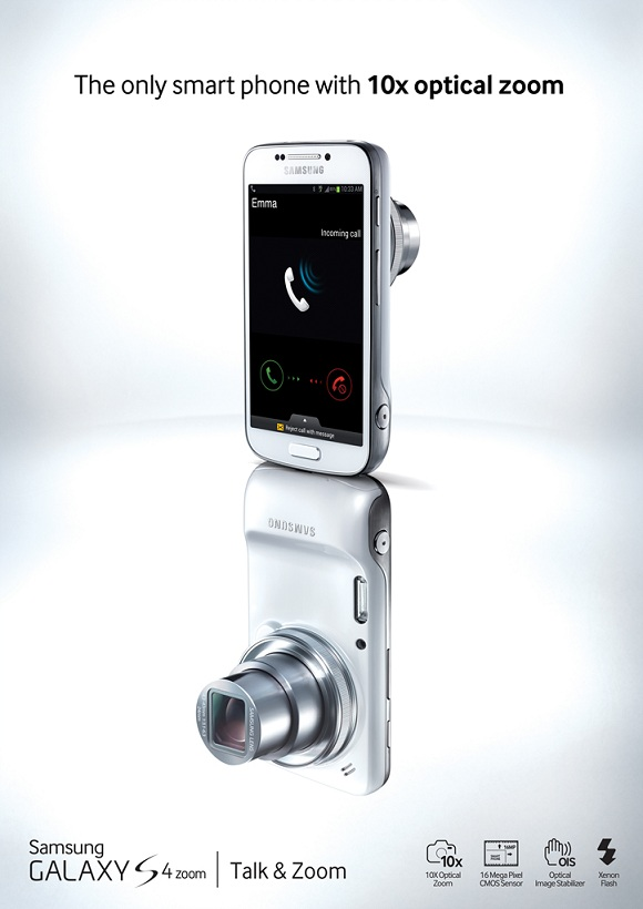GALAXY S4 zoom front and back