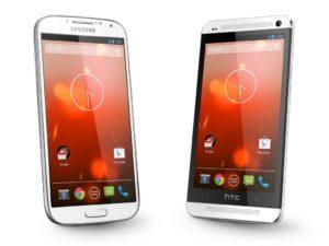 Google Edition Galaxy S4 & HTC One