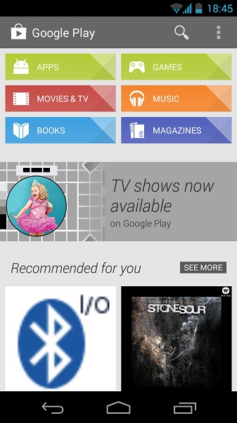 Google Play Store 4.3.10 - Home