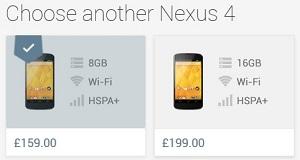 Nexus 4 Price Drop
