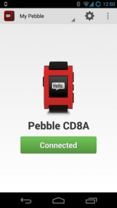 Pebble App for Android - Home Screen