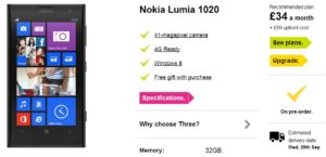 Pre-Order Nokia Lumia 1020 Now Available to UK Customers