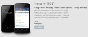 New Nexus 4 Coming Soon UK