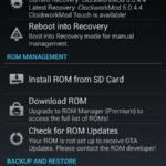 ROM Manager to setup ClockworkMod Recovery