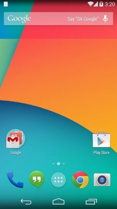 Android 4.4.1 - Nexus 5 - Home Screen