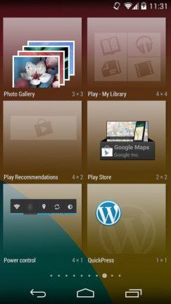 Android Widgets - KitKat