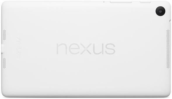 White Nexus 7 2013 - Back - Landscape
