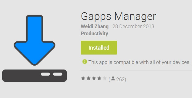 Gapps Manager App to Download Gapps