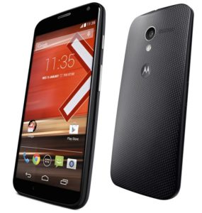 Motorola Moto X Black 16GB - Front and Back