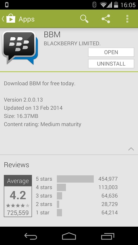 BBM 2 0 for Android App Updated w/ BBM Voice, Channels