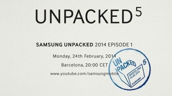 Samsung Unpacked 5 Event Invitation