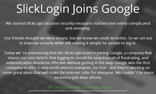 SlickLogin Joins Google
