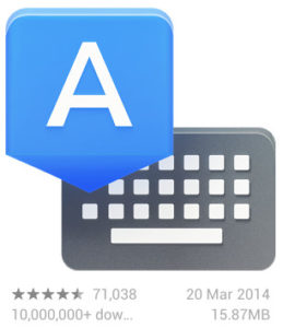 Google Keyboard v3.0 - Updated on 20 March 2014