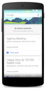 Google Now cards will remain active while offline