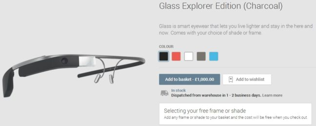 Google Glass Explorer Edition available in UK