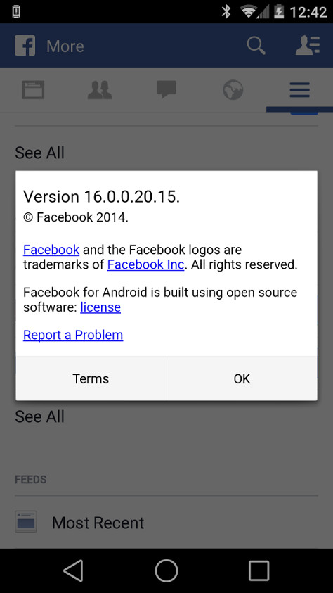 facebook for android apk old version