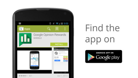 Free Google Play Credit with Google Opinion Rewards App