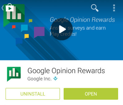 Google Opinion Rewards app gives you free Google Play Credit