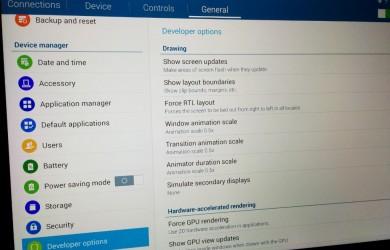 Samsung Galaxy Tab PRO 12.2 - Developer Options