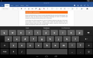 Microsoft Office Preview for Android Tablet Released