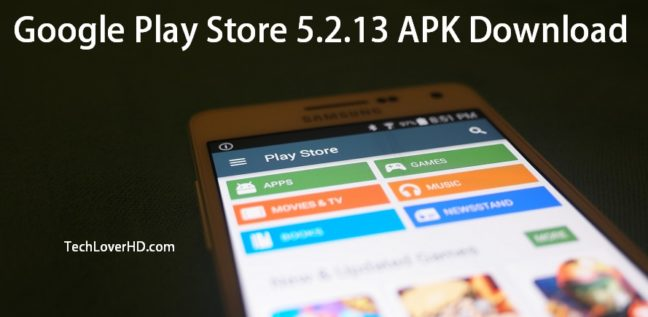 Google Play Store 5.2.13 on Samsung Galaxy A5