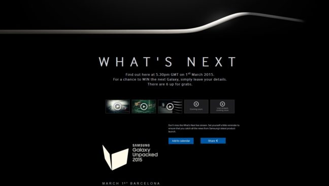 Samsung UK Galaxy S6 Edge Teaser