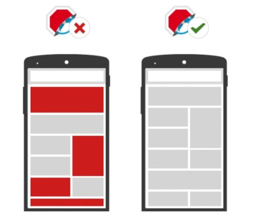 Adblock Browser for Android showing the difference