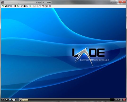 LXDE Desktop running on Ubuntu VPS