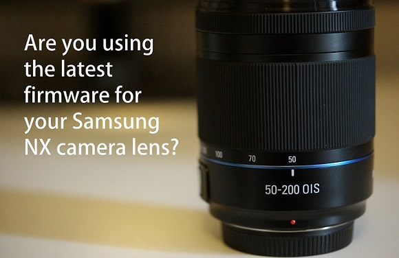 Samsung NX 50-200mm lens with text