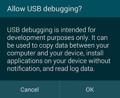 Depuración USB permite