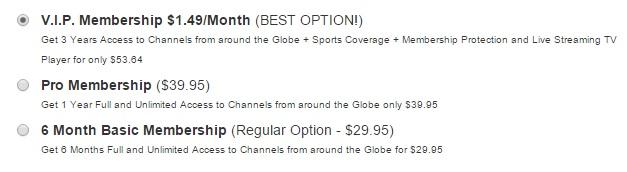 OfficialTVStream Price Plan Oct 2015