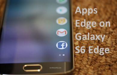 Apps Edge on Samsung Galaxy S6 Edge