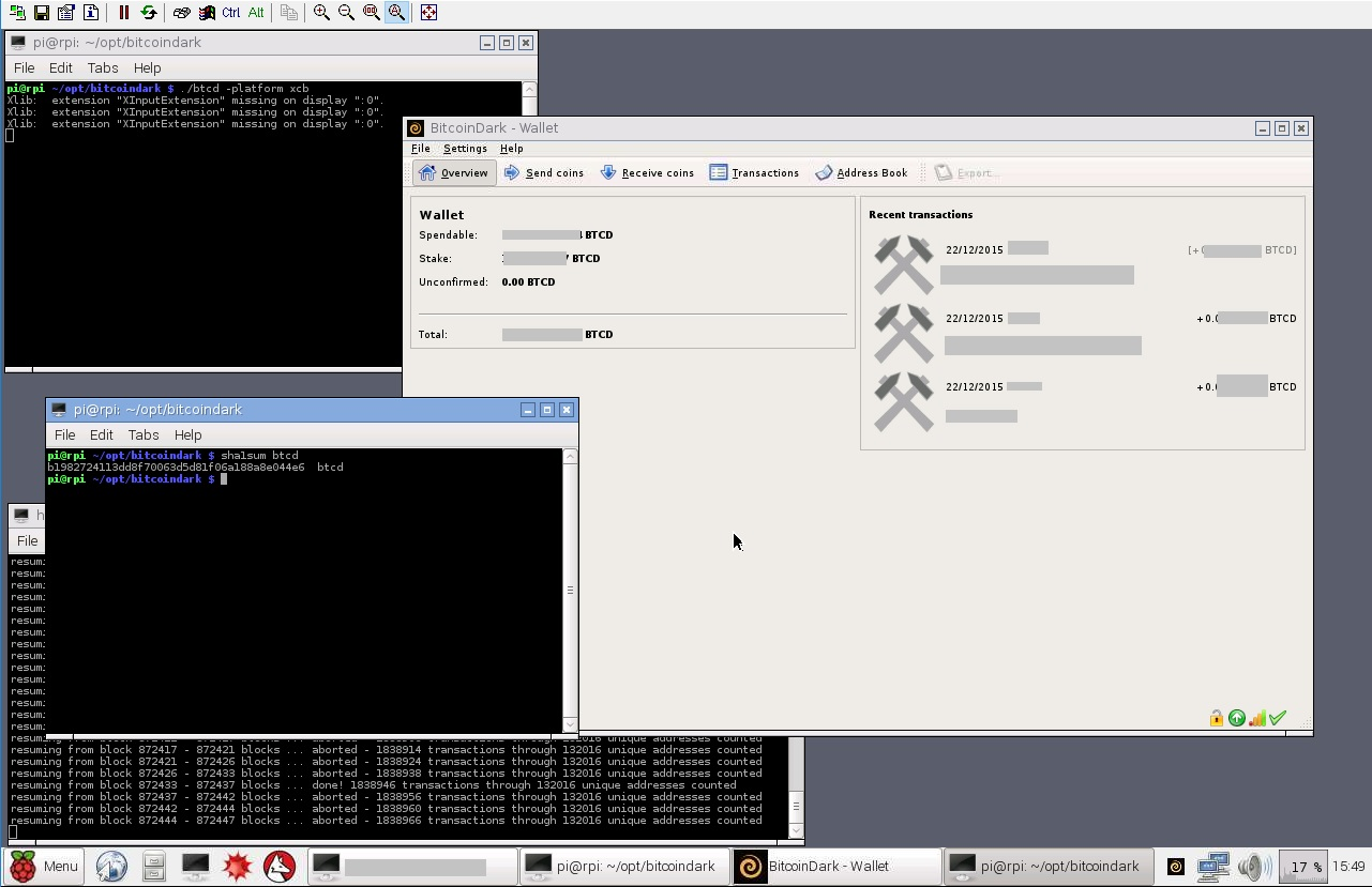 Staking $BTCD in a Raspberry Pi 2 with GUI Wallet 24/7