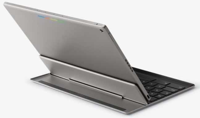Google Pixel C with Keyboard from the back