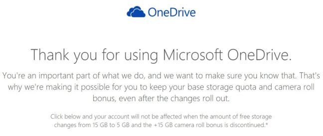 Keep Your Free Microsoft OneDrive Storage before 31 Januray 2016