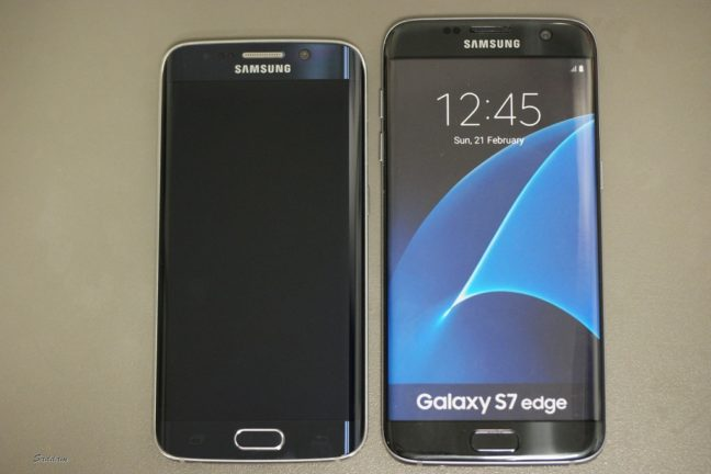 Samsung Galaxy S7 Edge and Galaxy S6 Edge front