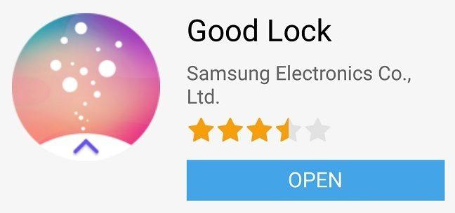 Good Lock app listing in Galaxy App Store
