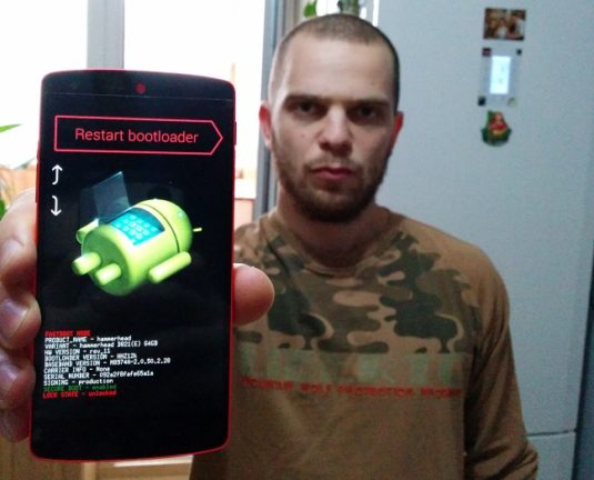 Kapetz2 Showing his Red Nexus 5 with 64GB Internal Storage