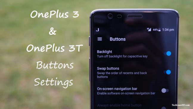 OnePlus 3 and OnePlus 3T Button Settings